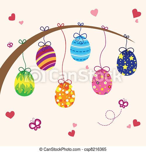 Easter eggs - csp8216365