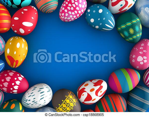 Easter eggs - csp18868905
