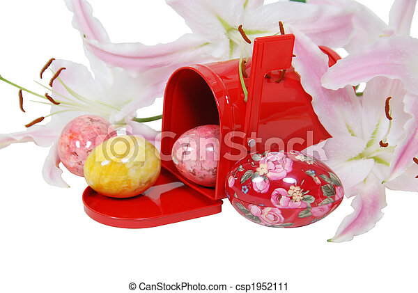 Easter eggs in the mailbox - csp1952111