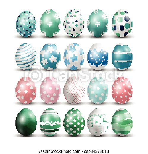 Easter eggs isolated background - csp34372813