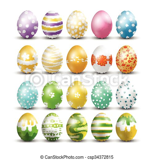 Easter eggs isolated background - csp34372815