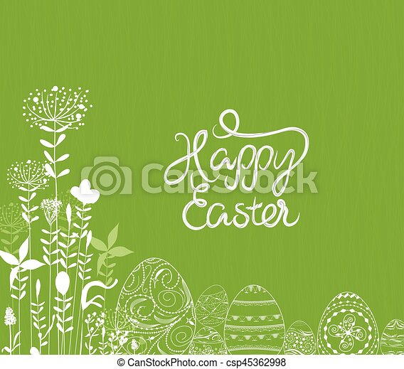 easter eggs ornament background - csp45362998