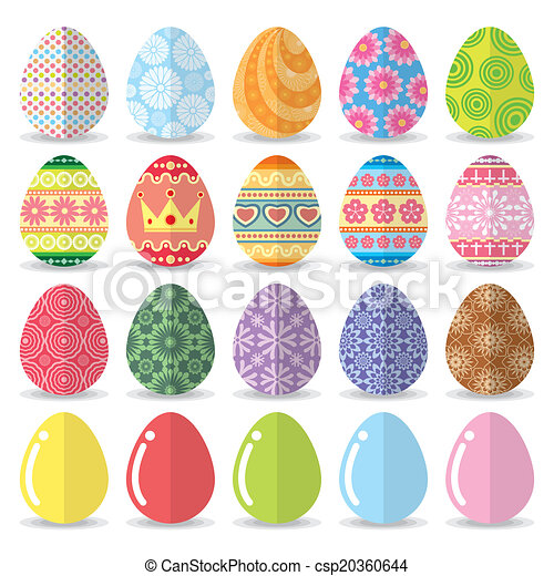 Easter eggs set - csp20360644