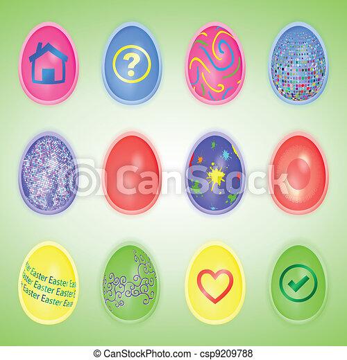 Easter eggs set - csp9209788