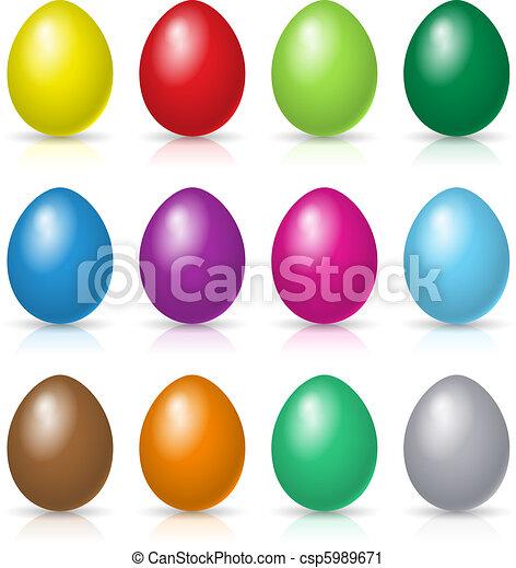 Easter eggs set - csp5989671
