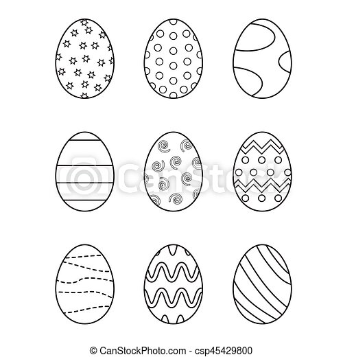 Easter eggs set - csp45429800