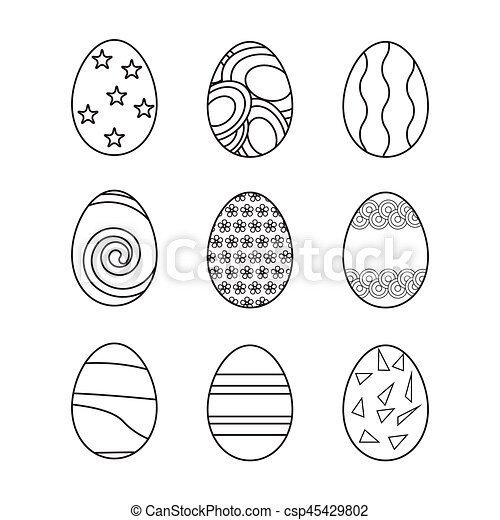 Easter eggs set - csp45429802