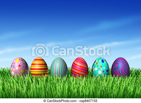Easter Eggs - csp8407155