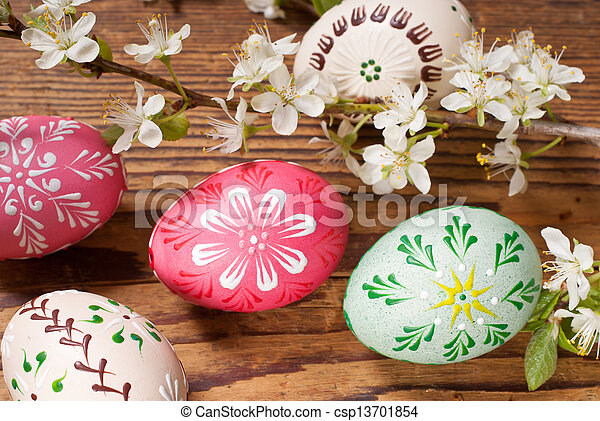 Easter eggs - csp13701854