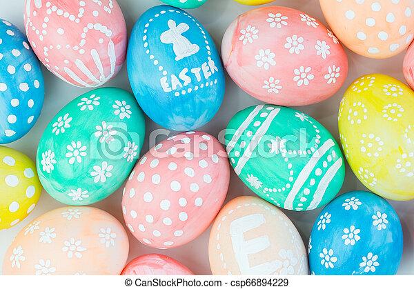 Easter eggs - csp66894229