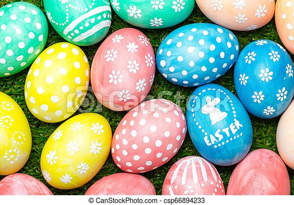 Easter eggs - csp66894233
