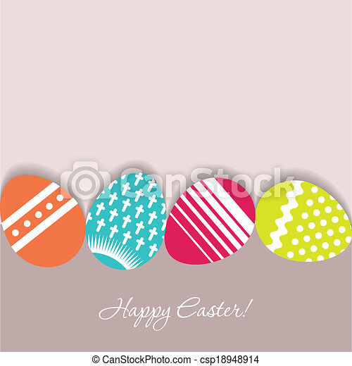 Easter eggs vector background - csp18948914