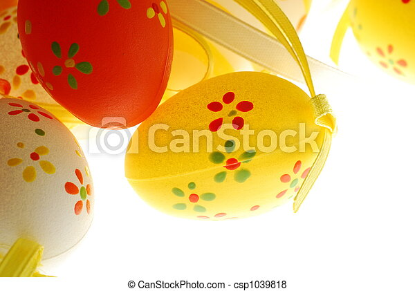 easter eggs with decorations - csp1039818
