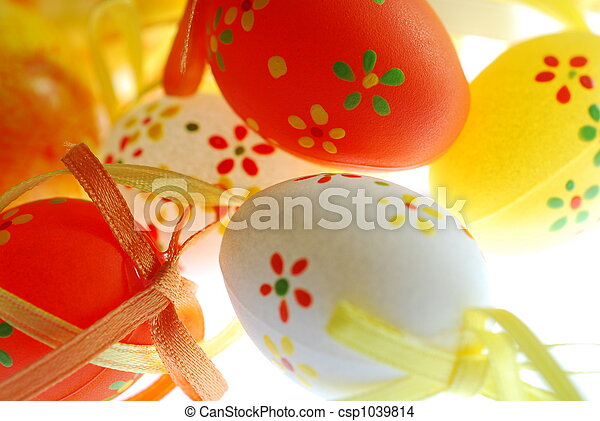 easter eggs with decorations - csp1039814