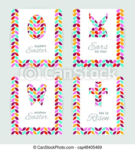 Easter gift tags and cards template of easter greeting clip art easter gift tags and cards csp48405469 negle Gallery