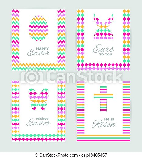 Easter gift tags and cards template of easter greeting clipart easter gift tags and cards vector negle Gallery
