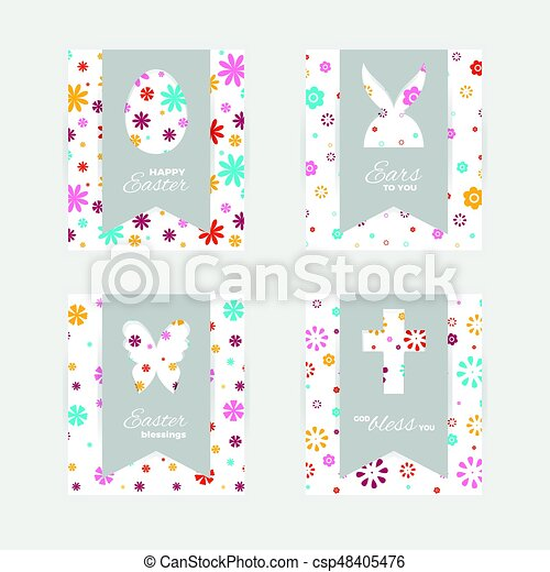 Easter gift tags and cards template of easter greeting vectors easter gift tags and cards vector negle Gallery