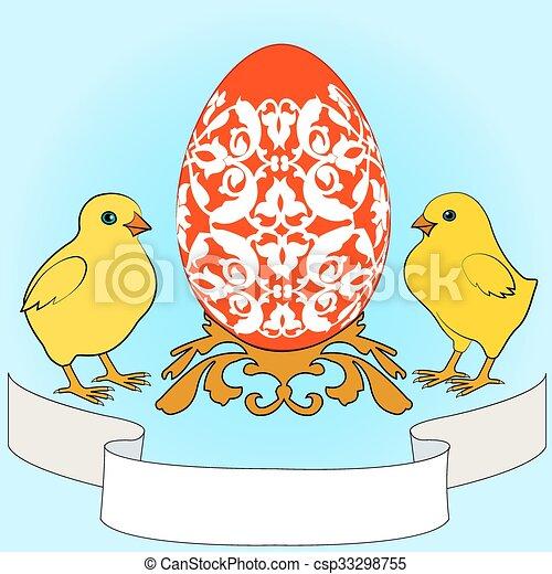 Easter greeting card - csp33298755