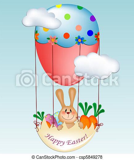 Easter greeting card - csp5849278