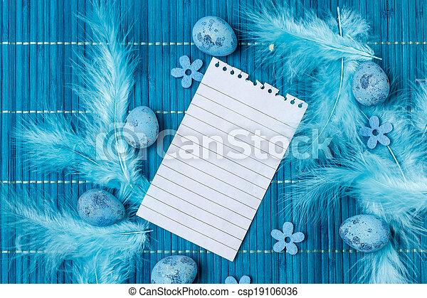 Easter greeting card - csp19106036