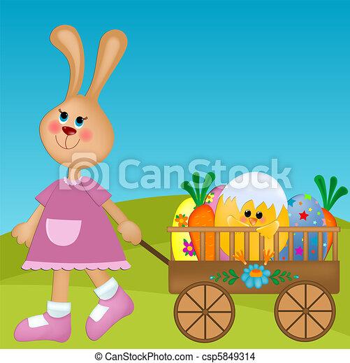 Easter greetings card - csp5849314