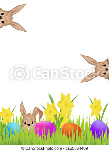 Easter hares - csp5564409