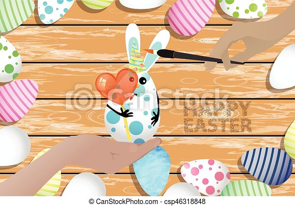 Easter is a perfect illustration for your design - csp46318848