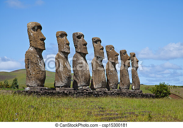 Easter Island Statues - csp15300181