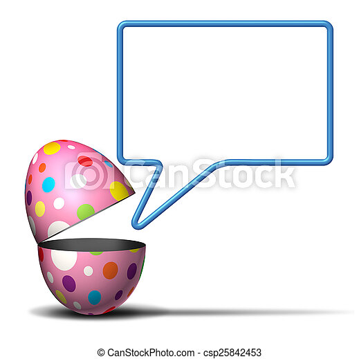 Easter Message - csp25842453