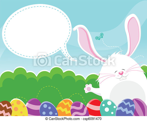 Easter Message - csp6091470