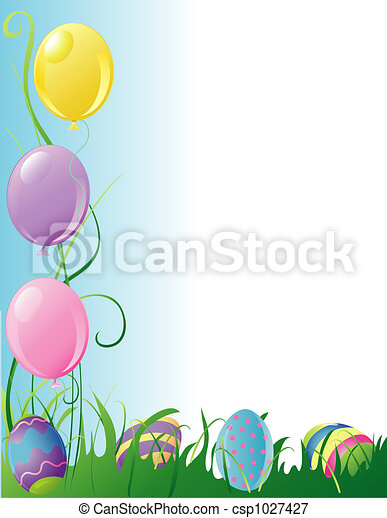 Easter Party border - csp1027427