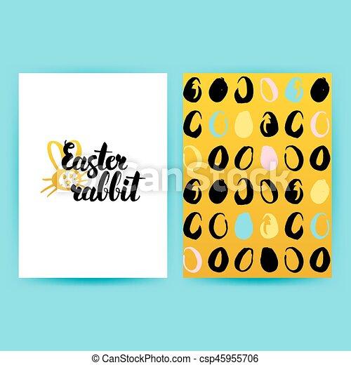 Easter Rabbit Retro Posters - csp45955706