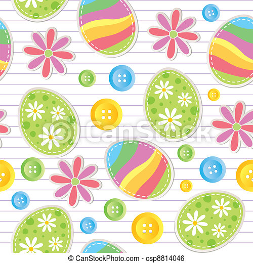 easter seamless pattern - csp8814046
