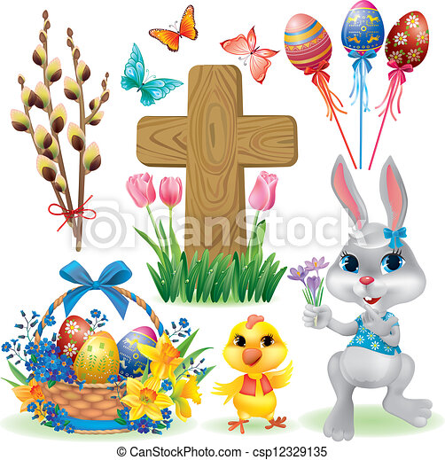Easter symbols set - csp12329135