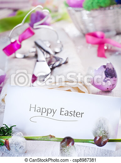 Easter Table Setting - csp8987381