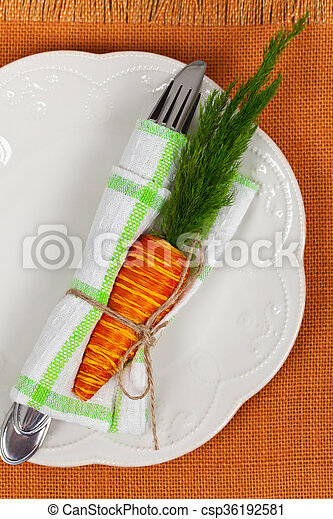 Easter table setting - csp36192581