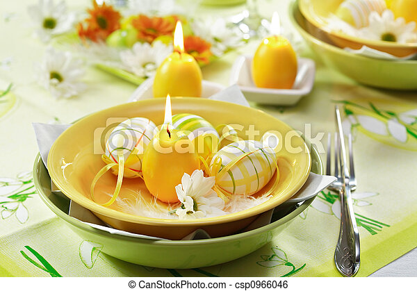 Easter table setting - csp0966046
