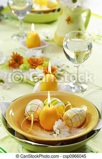 Easter table setting - csp0966045