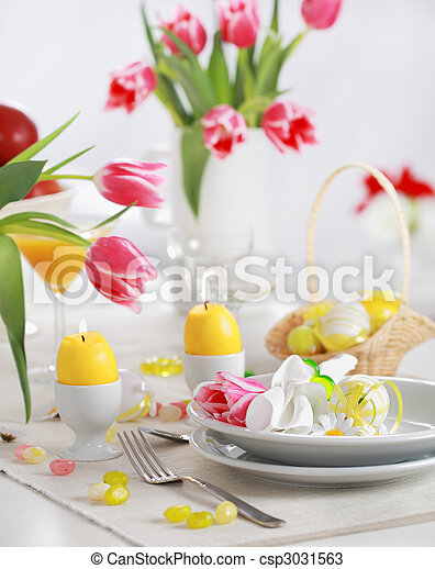 Easter table setting - csp3031563