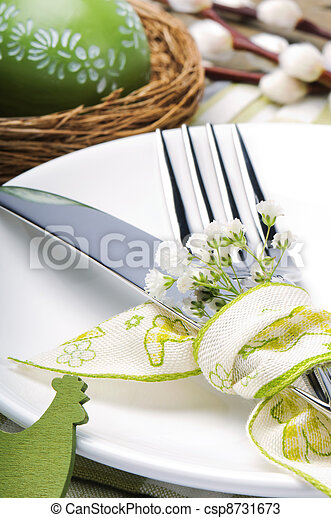 Easter table setting - csp8731673