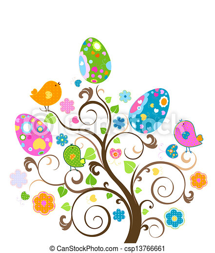 easter tree - csp13766661