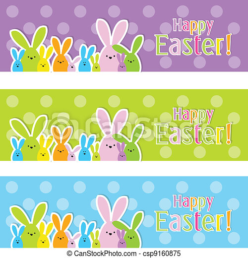 Easter web banners - csp9160875