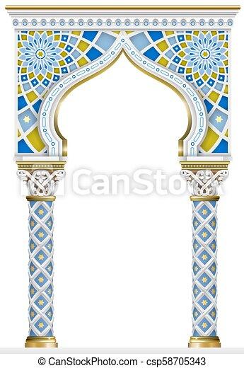 Eastern arch mosaic frame - csp58705343