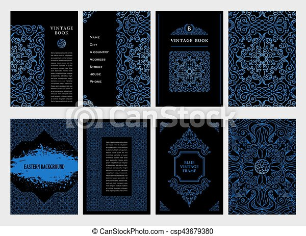 Line Design Clipart Free : Eastern blue arabic vector lines design templates muslim
