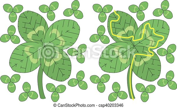 Easy Clover Maze Easy Four Leaf Clover Maze For Younger Kids With A