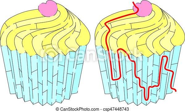 Easy cup cake maze - csp47448743