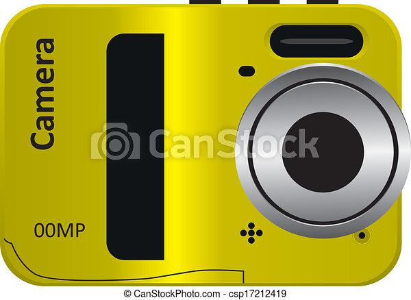 Easy Modern Camera Easy Modern Digital Camera Unprofessional Vector Illustration