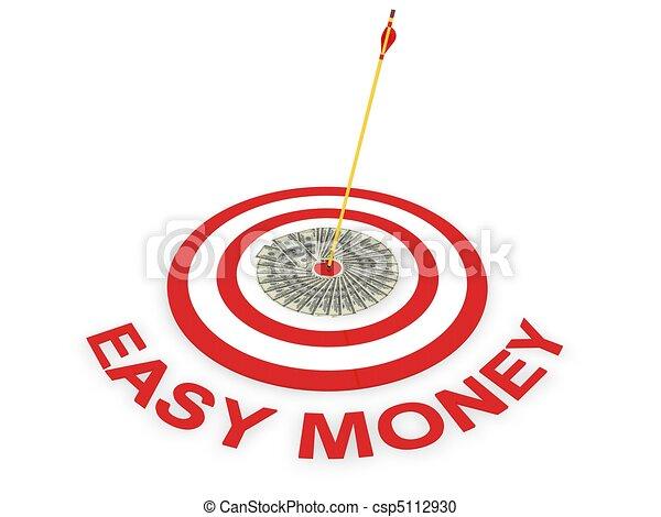 easy money concept  - csp5112930