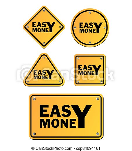 easy money signs suitable for signs and symbols clip art vector rh canstockphoto com  money symbol clipart
