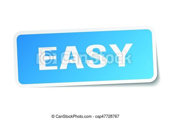 easy square sticker on white - csp47728767